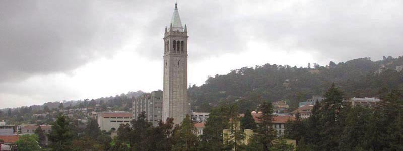 View of Campanile Tower from Barrows Hall, photo by S. Kurtsikidze