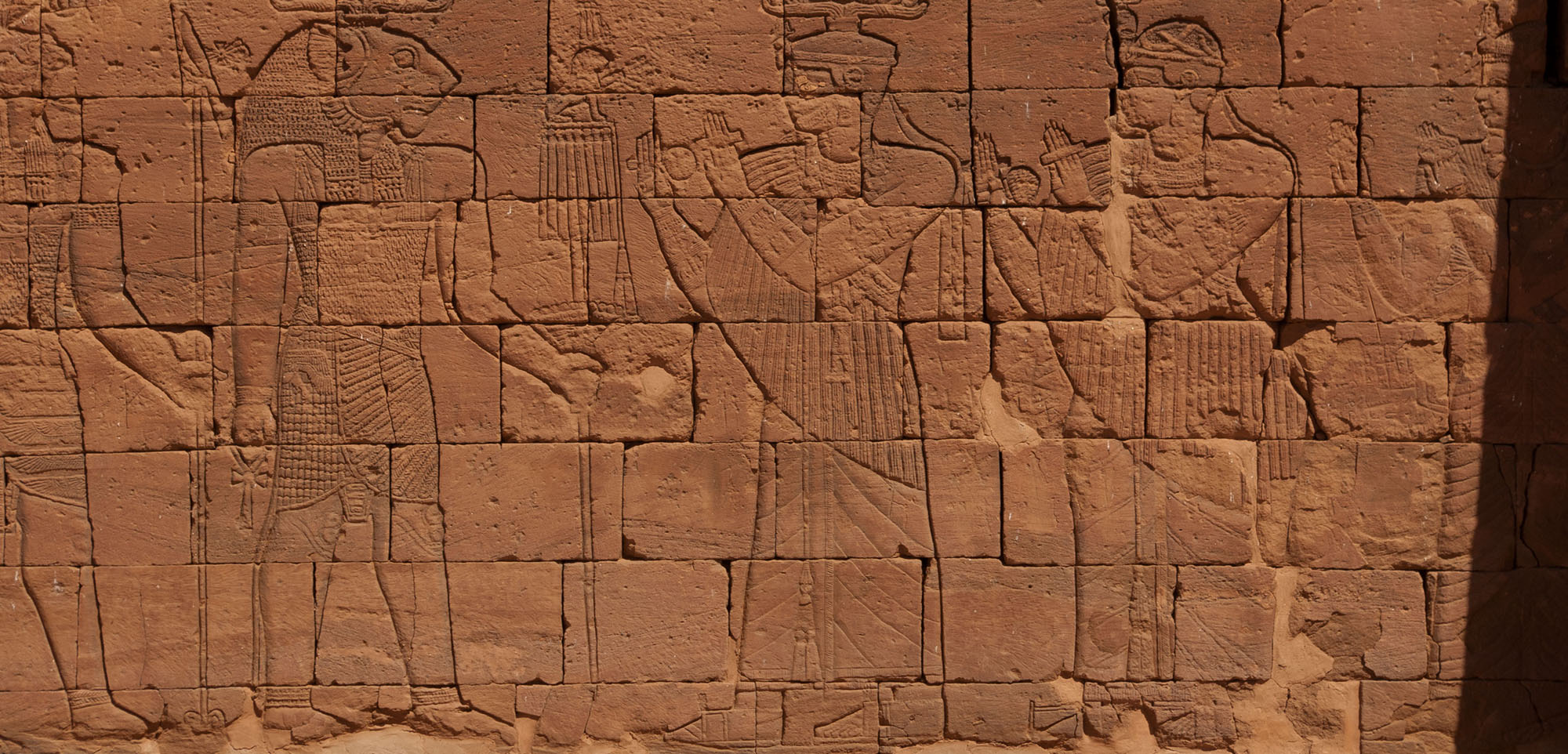 Ancient Egyptian carvings, Sudan, photo by Elizabeth Minor